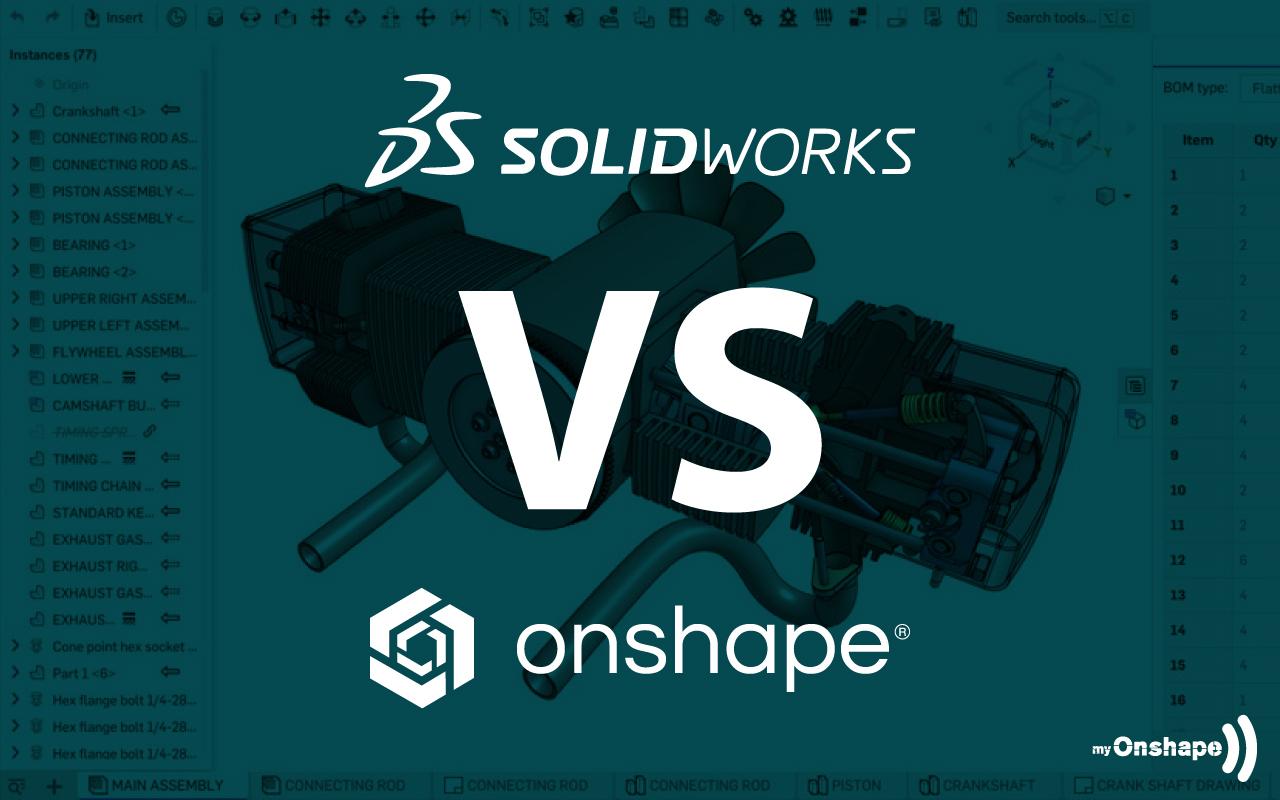 Funktionsvergleich SolidWorks vs. Onshape