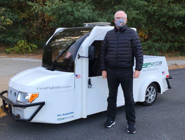 Der Gründer von Onshape, Jon Hirschtick, besuchte kürzlich evTS. Dieser Kunde entwicklet kompakte Elektrofahrzeuge für Kommunen, Abteilungen für öffentliche Sicherheit und Paketzustellungsflotten.
