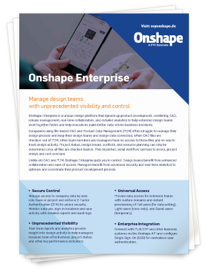 Onshape Enterprise Datenblatt