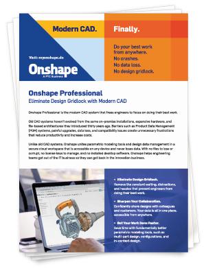 Onshape Professional Datenblatt