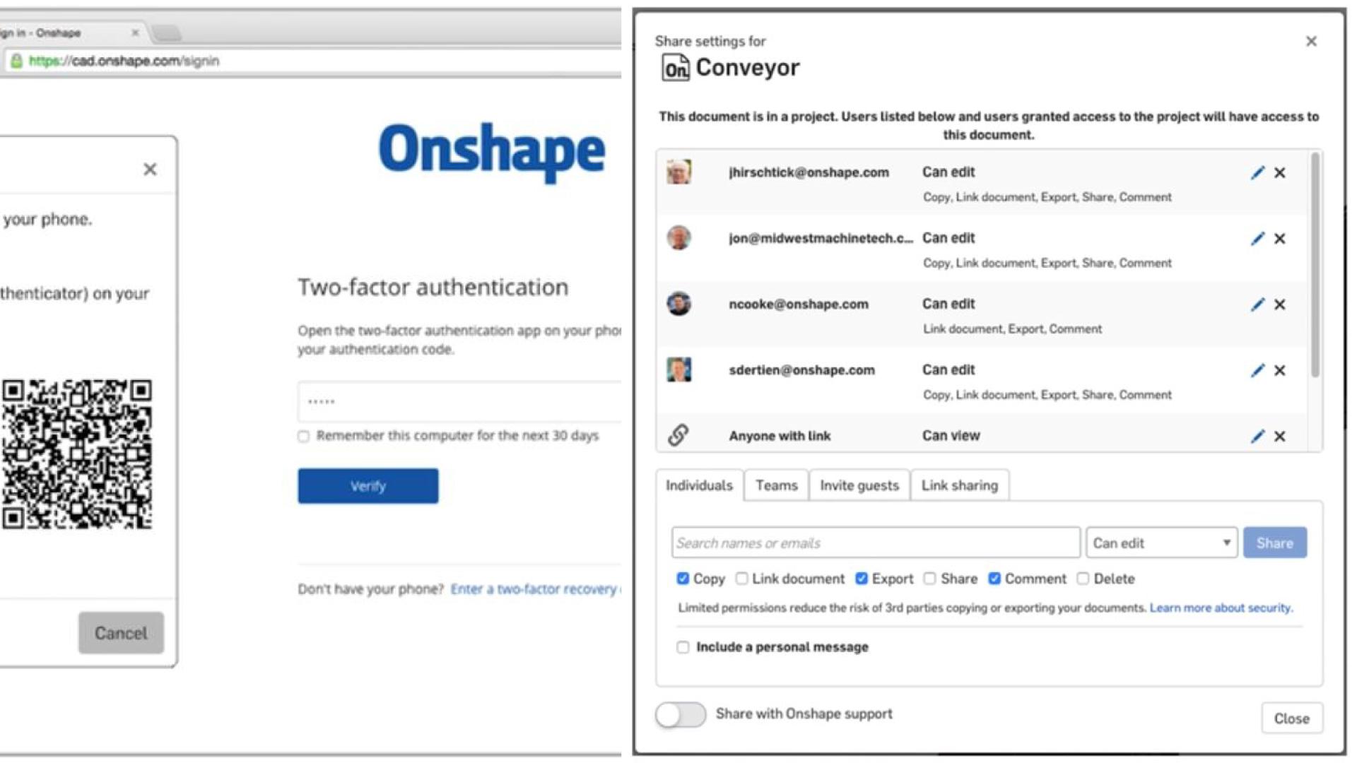 Onshape und Datensicherheit