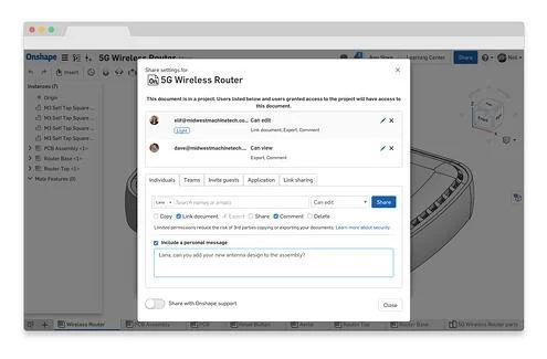 Onshape Branchenlösung Automotive - 5G-Router