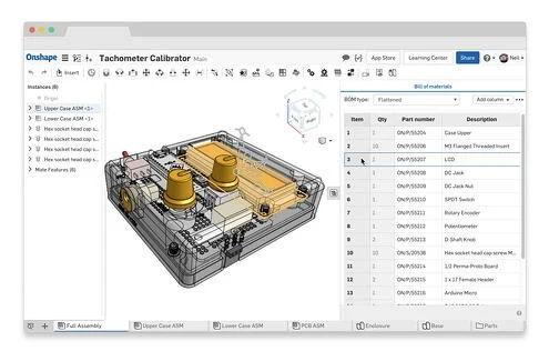Onshape Branchenlösung für Hardeware-Startups - Screenshot